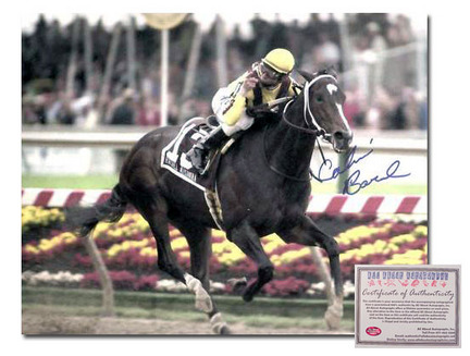 "Calvin Borel ""2009 Rachel Alexandra Preakness Stakes Color Horse Racing"" Autographed 11"" x 14"" Photograph"