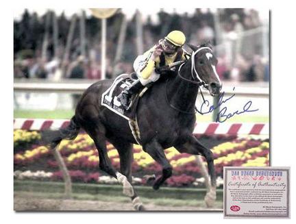 "Calvin Borel ""2009 Rachel Alexandra Preakness Stakes Color Horse Racing"" Autographed 16"" x 20"" Photograph"