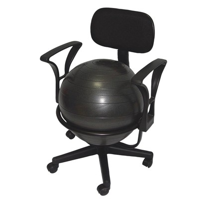 Cando Metal Mobile Ball Stabilizer Chair with Arms