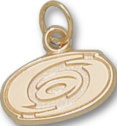 "Carolina Hurricanes 3/8"" Logo Charm - 10KT Gold Jewelry"