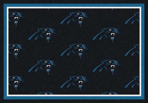 "Carolina Panthers 3' 10"" x 5' 4"" Team Repeat Area Rug (Blue)"