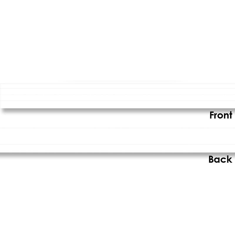 Carson Dellosa CD-4453BN Lined Sentence Strips White - Pack of 6