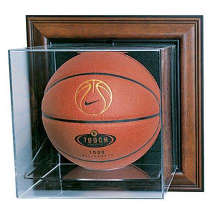 "Case-Up"" Basketball Display Case with Mahogany Frame"