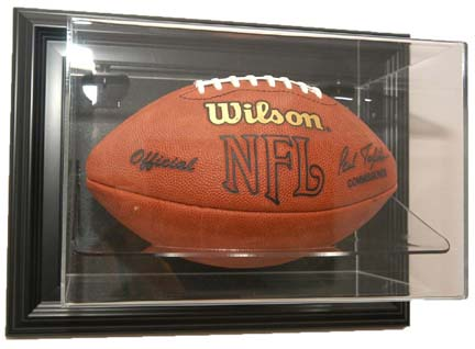 "Case-Up"" Single Football Display Case with Black Frame"