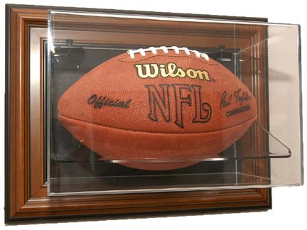 "Case-Up"" Single Football Display Case with Wood Frame"