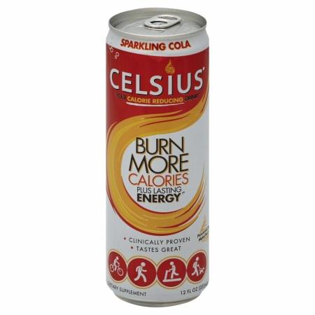 Celsius 146266 Sparkling Cola Energy Drink - 12 oz.