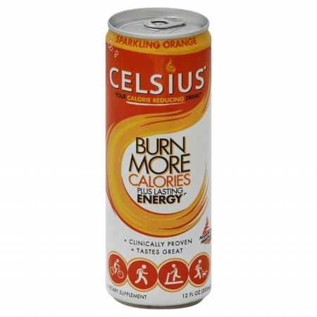 Celsius 146522 Sparkling Orange Energy Drink - 12 oz.