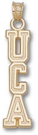"Central Arkansas Bears Vertical ""UCA"" Pendant - 10KT Gold Jewelry"