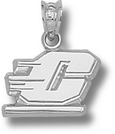 "Central Michigan Chippewas 3/8"" Motion ""C"" Pendant - 10KT White Gold Jewelry"