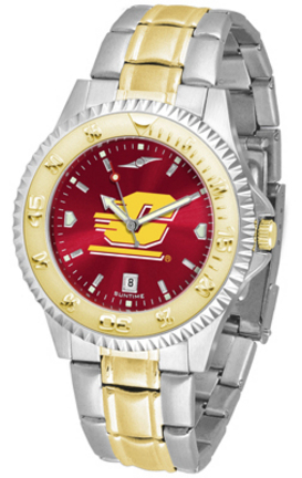 Central Michigan Chippewas Competitor AnoChrome Two Tone Watch