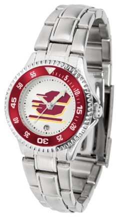 Central Michigan Chippewas Competitor Ladies Watch with Steel Band