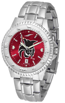 Central Washington Wildcats Competitor AnoChrome Men's Watch with Steel Band