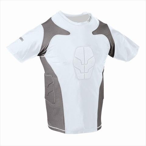 Century 14246-100216 Padded Compression Shirt Short Sleeve - White Extra Large