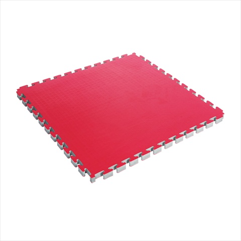 Century 15229-910455 Reversable 1.5 In. Thick Puzzle Mat - Red & Black