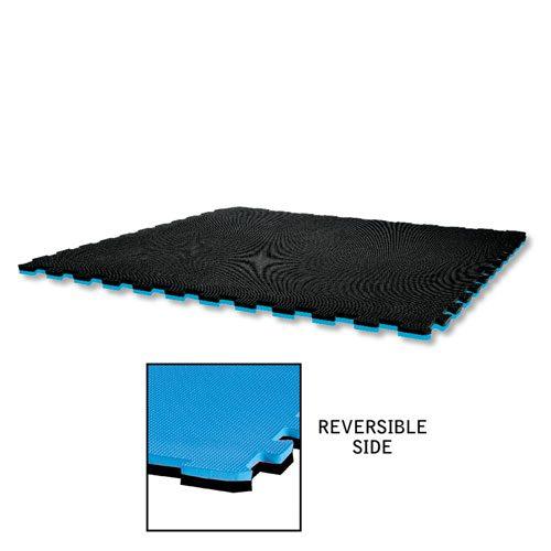 Century 15292-610 Reversible Puzzle Sport Mat - Blue & Black