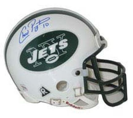 Chad Pennington Autographed New York Jets Riddell Authentic Mini Helmet