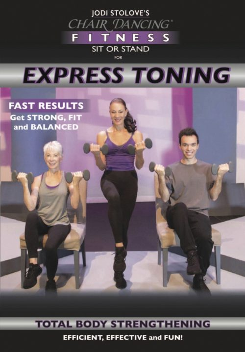 Chair Dancing International 1593184 Fitness Presents Sit or Stand for Express Toning