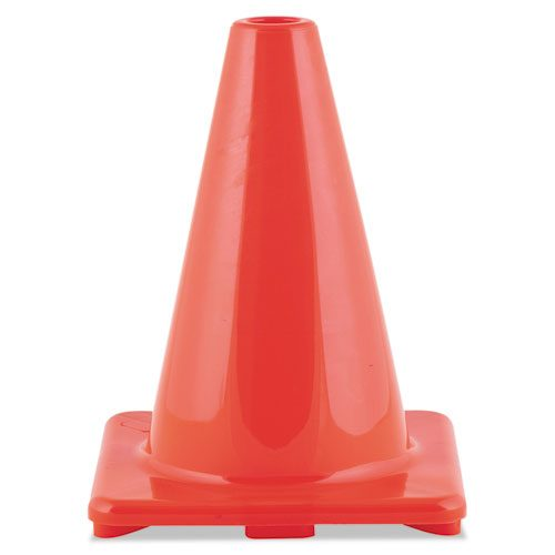 Champion Sport C6OR Hi-Visibility Vinyl Cones 6 Tall Orange