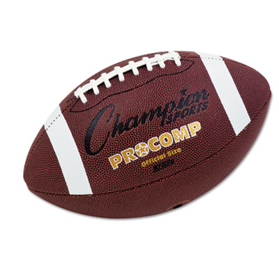 Champion Sport CF100 Pro Composite Football Official Size 22 in. Brown