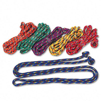 Champion Sport CR8SET Braided Nylon Jump Ropes 8-ft. 6 Assorted Color Jump Ropes per set