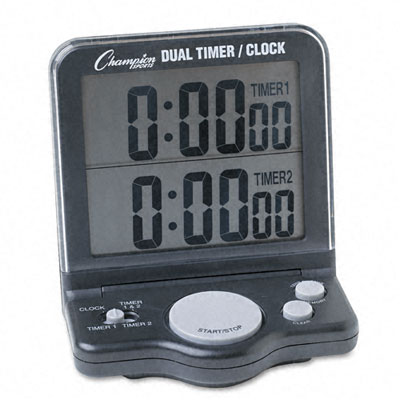 Champion Sport DC100 Dual Timer/Clock with Jumbo 1 Display