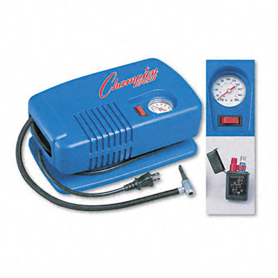Champion Sport EP1500 Electric Inflating Pump with Gauge Hose & Needle 1/4 HP Compressor
