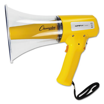 Champion Sport MP8W MP8W Megaphone 12W 800 Yard Range White/Yellow