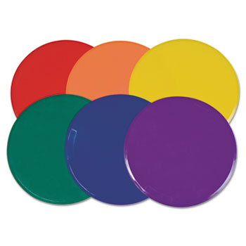 Champion Sport MSPSET Poly Spot Marker Set 9 Disks Assorted Colors 6/Set