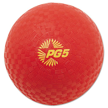 Champion Sport PG5RD Playground Ball 5 Diameter Red