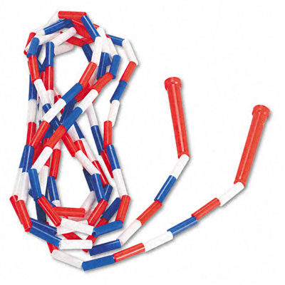 Champion Sport PR16 Segmented Plastic Jump Rope 16-ft. Red/Blue/White