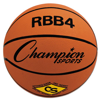 Champion Sport RBB4 Rubber Sports Ball For Basketball No. 6 Intermediate Size Orange