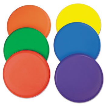 Champion Sport RDSET Rhino Skin Foam Discs Set of 6 Assorted Color Discs