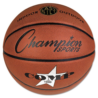 Champion Sport SB1030 Composite Basketball Official Intermediate 29 in. Brown