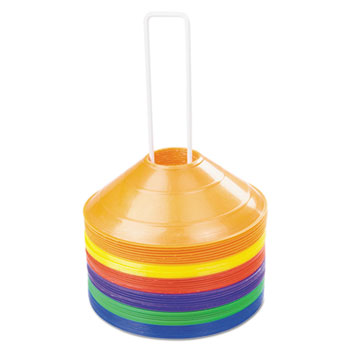 Champion Sport SCXSET Saucer Field Cones Set of 8 Assorted Color Cones