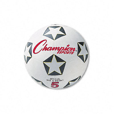 Champion Sport SRB4 Soccer Ball Rubber/Nylon No. 4 Size White/Black