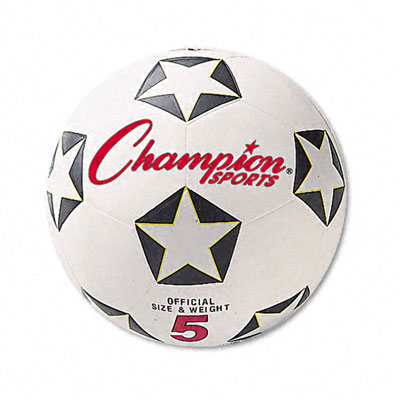 Champion Sport SRB5 Soccer Ball Rubber/Nylon 6 White/Black