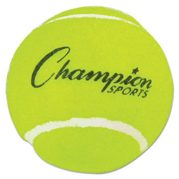 Champion Sport TB3 Tennis Balls 2 1/2 Diameter Rubber Yellow 3/Pack