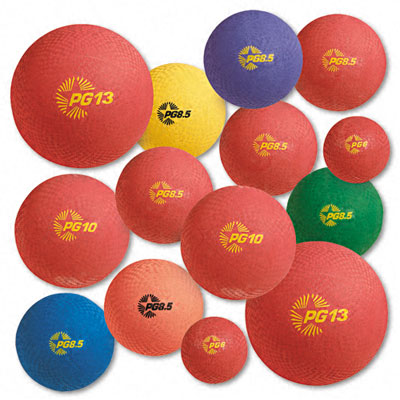 Champion Sport UPGSET1 Playground Ball Set Multi-Size Multi-Color Nylon 12 per Set