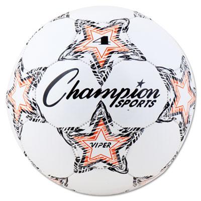 Champion Sport VIPER4 VIPER Soccer Ball Size 4 White