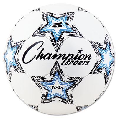 Champion Sport VIPER5 VIPER Soccer Ball Size 5 White
