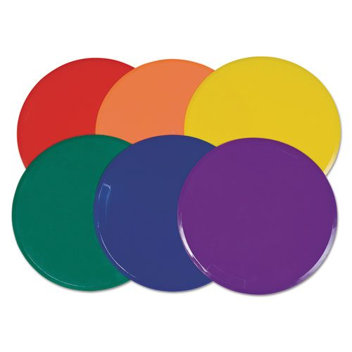 Champion Sport XLMSPSET Extra Large Poly Marker Set 12 Diameter Assorted Colors 6 Spots/Set