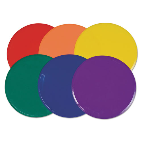 Champion Sport XLMSPSET Extra Large Poly Marker Set 12 Diameter Assorted Colors 6 Spots/Set