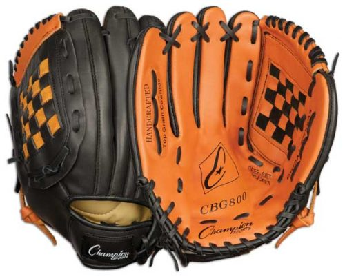 Champion Sports 03996 12 in. Baseball or Softball Fielders Glove - Worn on Right Hand