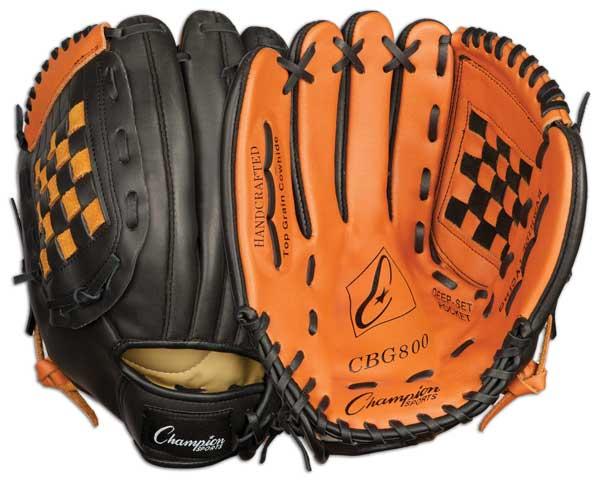 Champion Sports 03996 12 in. Baseball or Softball Fielders Glove - Worn on Right Hand
