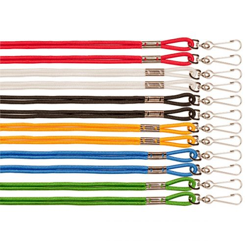 Champion Sports 125ASST 10 in. Heavy Nylon Lanyard Assorted Colors - Pack of 12