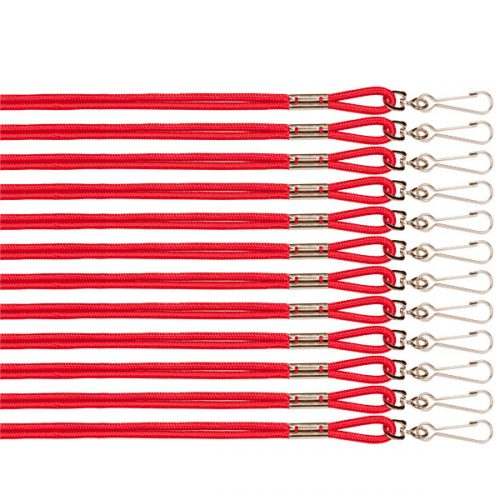 Champion Sports 126RD Heavy Nylon Lanyard Red