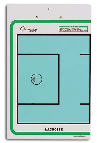 Champion Sports 13166 10 x 16 in. Lacrosse Double-Sided Coaching Board