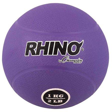 Champion Sports 16337 1 kg Rubber Medicine Ball Purple