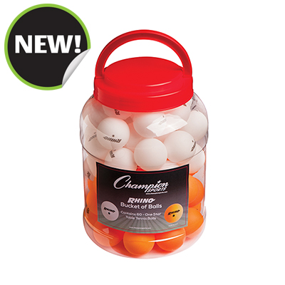Champion Sports 1STARBKT 1 Star Table Tennis Bucket White & Orange - 60 per Box