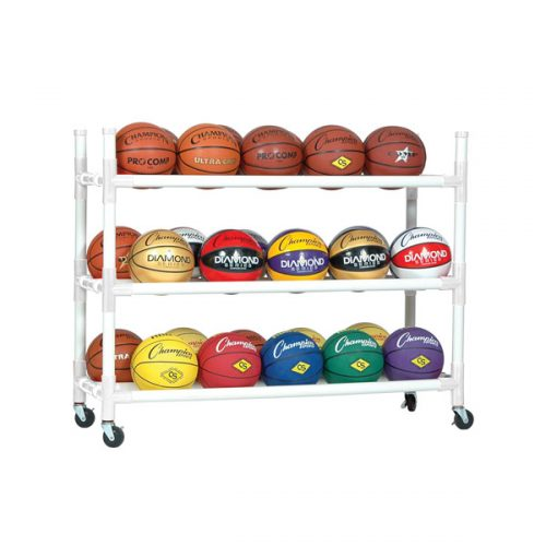 Champion Sports 30CART 40 Ball Heavy Duty Cart White